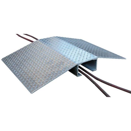 Vestil FHCR-48-40-8-4H Fabricated Aluminum Hose & Cable Bridge-2