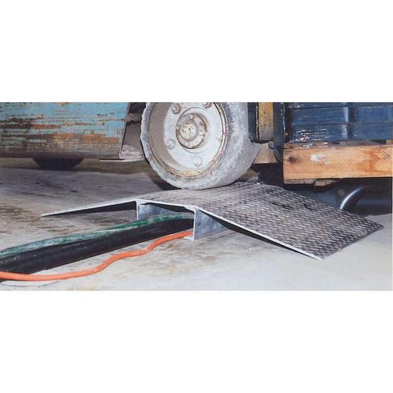 Vestil FHCR-48-48-16-4H Fabricated Aluminum Hose & Cable Bridge-2