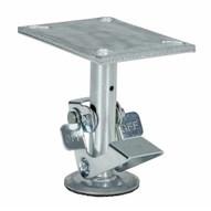 Vestil FL-LK-6EH Floor Lock High Used With 6 In Caster-2