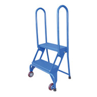 Vestil FLAD-4 Folding Ladder With Wheels-1