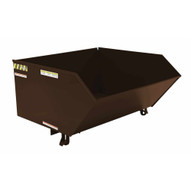 Vestil H-100-HD-BRN-EB Low Profile Hopper Hd 1 Cubic Yard-earth Brown-1