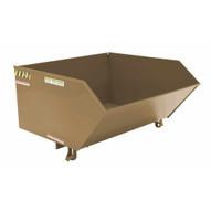 Vestil H-100-HD-BRN-KT Low Profile Hopper Hd 1 Cubic Yard-khaki Tan-1