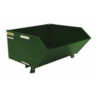 Vestil H-100-LD-GRN-H Low Profile Hopper Ld 1 Cubic Yard-hunter Green-1