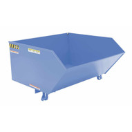 Vestil H-100-MD-BL-S Low Profile Hopper Md 1 Cubic Yard-sky Blue-1