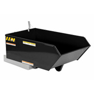Vestil H-25-HD-BLK-HG Low Profile Hopper Hd .25 Cubic Yard-hi Gloss Blk-1