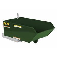 Vestil H-25-HD-GRN-H Low Profile Hopper Hd .25 Cubic Yard-hunter Green-1