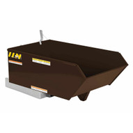 Vestil H-25-MD-BRN-EB Low Profile Hopper Md .25 Cubic Yard-earth Brown-1