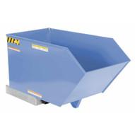 Vestil H-50-HD-BL-S Low Profile Hopper Hd .50 Cubic Yard-sky Blue-1