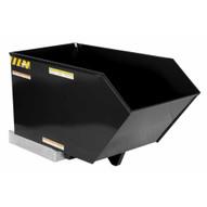 Vestil H-50-HD-BLK-HG Low Profile Hopper Hd .50 Cubic Yard-hi Gloss Blk-1