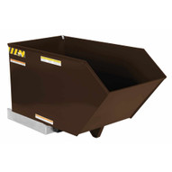 Vestil H-50-LD-BRN-EB Low Profile Hopper Ld .50 Cubic Yard-earth Brown-1
