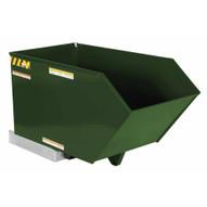 Vestil H-50-LD-GRN-H Low Profile Hopper Ld .50 Cubic Yard-hunter Green-1