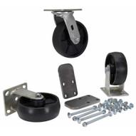 Vestil H-CK3-GFN6-2 6 X 2 Glass Filled Nylon Caster Kit 3600# Cap-1