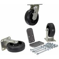 Vestil H-CK3-MR6-2 6 X 2 Mold-on-rubber Caster Kit 1800# Cap-1