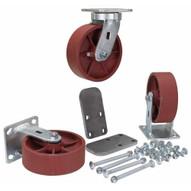 Vestil H-CK3-SC6-2HD 6 X 2 Ductile Steel Caster Kit 6000# Cap-3