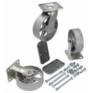 Vestil H-CK3-SC6-2 6 X 2 Semi-steel Caster Kit 3600# Cap-1