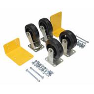 Vestil H-CK4-MR6-2 6 X 2 Mold-on-rubber Caster Kit 2400# Cap-1