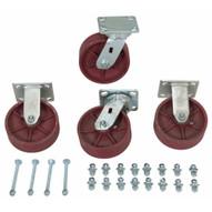 Vestil H-CK4-SC6-2HD 6 X 2 Ductile Steel Caster Kit 8000# Cap-1