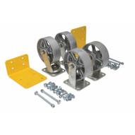 Vestil H-CK4-SC6-2 6 X 2 Semi-steel Caster Kit 4800# Cap-1
