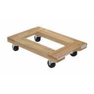 Vestil HDOF-1624-9-NM Hardwood Dolly Open Deck 0.9k Lb 16 X 24-1