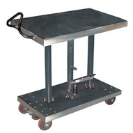Vestil HT-10-2036A-PSS Post Table - Partial Stainless Steel-1