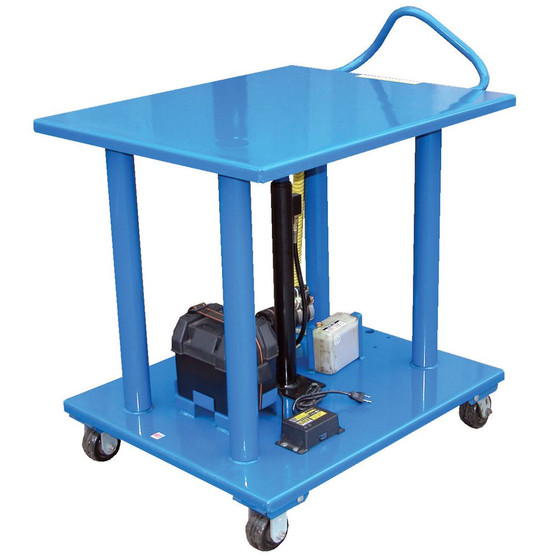 Vestil HT-60-3248-DC Dc Powered Steel Hydraulic Post Table-1