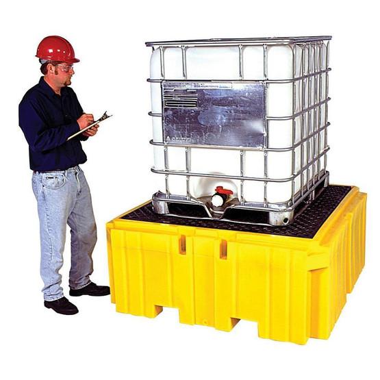 Vestil ISCP-1 Spill Containment Pallet- 1 Ibc W drain-1