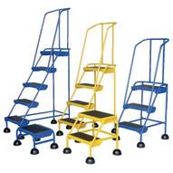 Vestil LAD-1-B Commercial Spring Loaded Rolling Ladder-1