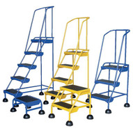 Vestil LAD-1-W Commercial Spring Loaded Rolling Ladder-2