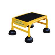 Vestil LAD-1-Y Commercial Spring Loaded Rolling Ladder-1