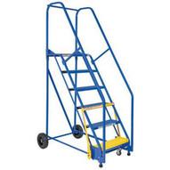 Vestil LAD-11-21-P-EZ 11 Step Perforated Warehouse Ladder Top Step 110-2