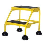 Vestil LAD-2-Y Commercial Spring Loaded Rolling Ladder-1