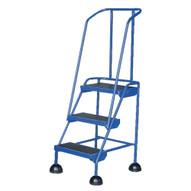 Vestil LAD-3-B Commercial Spring Loaded Rolling Ladder-1