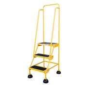 Vestil LAD-3-Y Commercial Spring Loaded Rolling Ladder-1