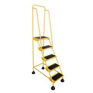 Vestil LAD-5-Y Commercial Spring Loaded Rolling Ladder-3