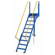 Vestil LAD-FM-96 Folding Mezzanine Ladder 96 In-1