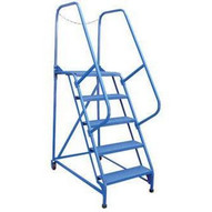 Vestil LAD-MM-12-G 12 Step Grip Strut Maintenance Ladder Top Step 120-5
