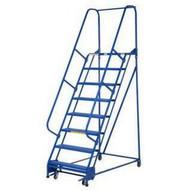 Vestil LAD-PW-26-11-P 11 Step Perforated Portable Warehouse Ladder Top Step 110-1