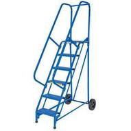Vestil LAD-RAF-11-24-G 11 Step Grip Strut Roll A Fold Ladder Top Step 110-1