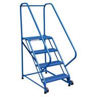 Vestil LAD-TRN-50-4-G 4 Step Grip Strut Tip N Roll Ladder Top Step 40-1