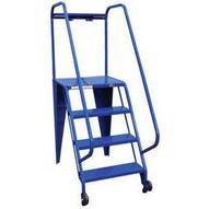 Vestil LAD-TRS-50-4-G 4 Step Grip Strut Tip N Roll Straddle Ladder Top Step 40-2