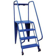 Vestil LAD-TRS-50-4-P 4 Step Perforated Tip N Roll Straddle Ladder Top Step 40-1