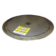 Vestil LP-4000T-39-SS Stainless Steel Thin Spin Carousel-1