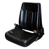 Vestil LTSD-V Vinyl Fork Truck Seat With Seat Belt-1