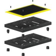 Vestil M-2448-YB Yellow Border Matting-1