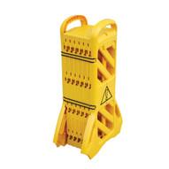 Vestil MSB-138 Mobile Plastic Safety Barrier-1