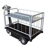 Vestil NE-CART-3 Traction Drive Cart - Side Load 2 Shelf-5