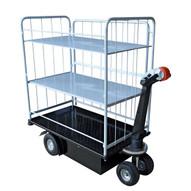Vestil NE-CART-4 Traction Drive Cart - Side Load 3 Shelf-1