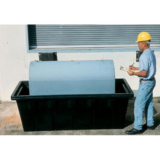 Vestil OTC-275 Oval Fuel Tank Containment With Drain-1