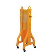 Vestil PEXGATE-30-C Plastic Safety Expand-a-gate W Casters-1