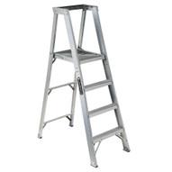 Vestil PFSL-8 Platform Step Ladder - Aluminum-1